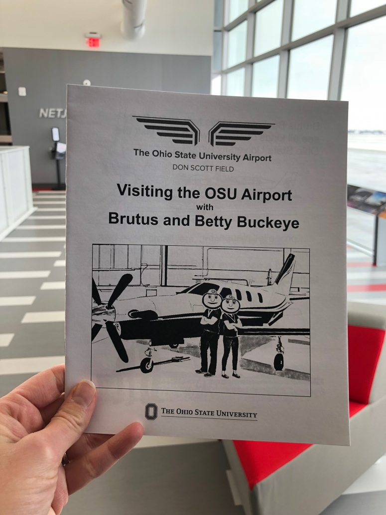 free coloring book at OSU airport