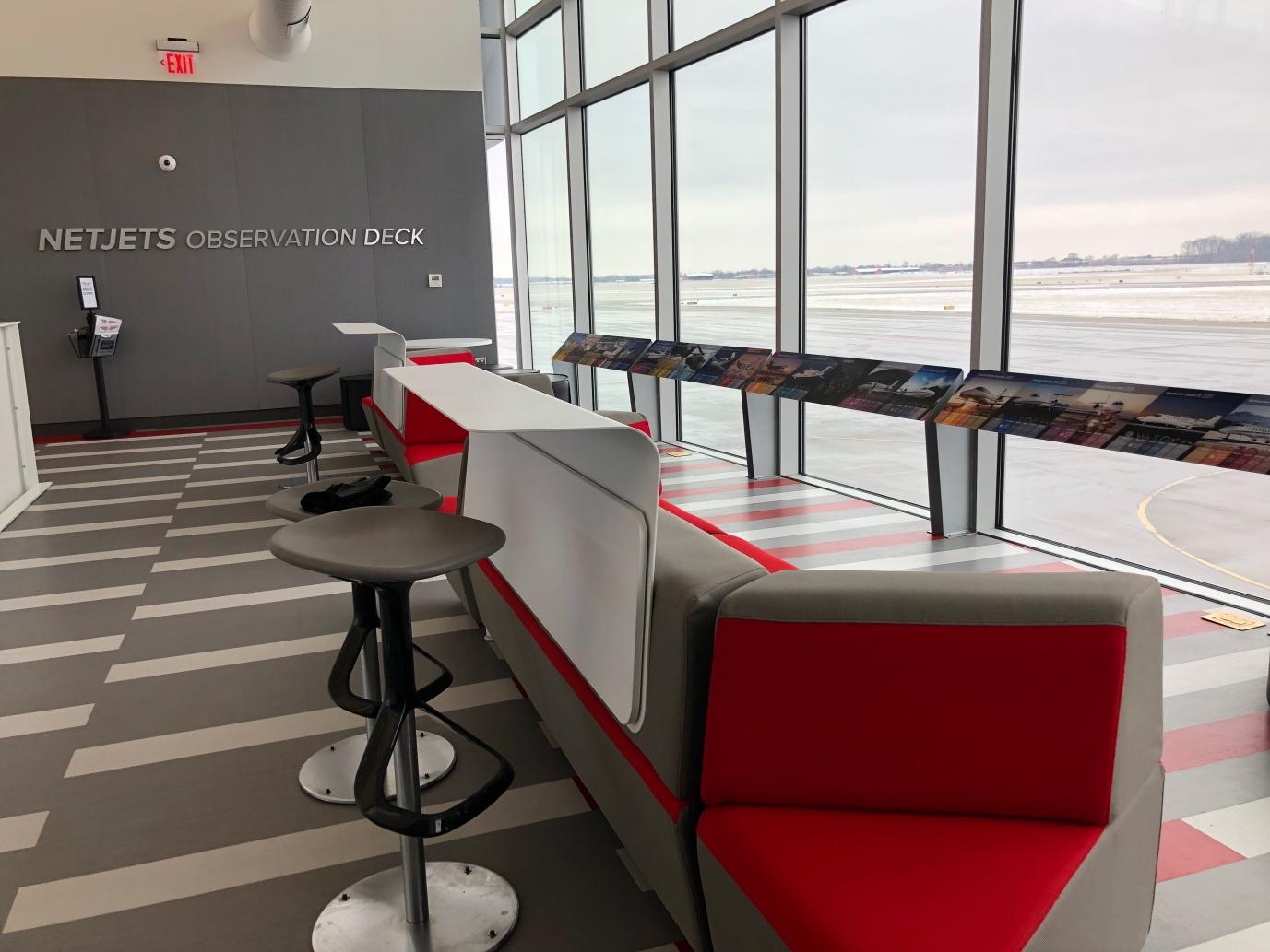 NetJets Observation Deck at OSU Airport