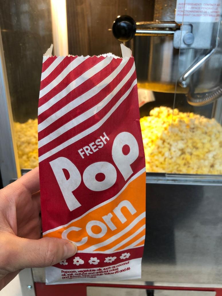 free popcorn at OSU airport