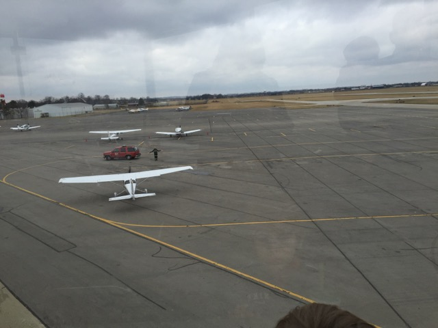 planes at Ohio state university airport