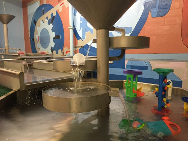 water table at Little Buckeye Children's Museum in Mansfield