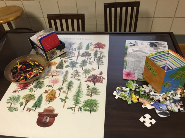 crafts for kids inside the Nature Center