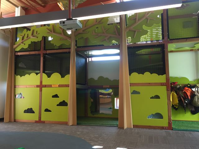 indoor play area at the Scioto Audubon Metro Park Nature Center