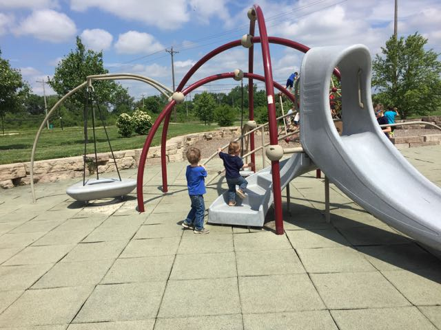 two boys on the playground at Scioto Audubon Metro Park