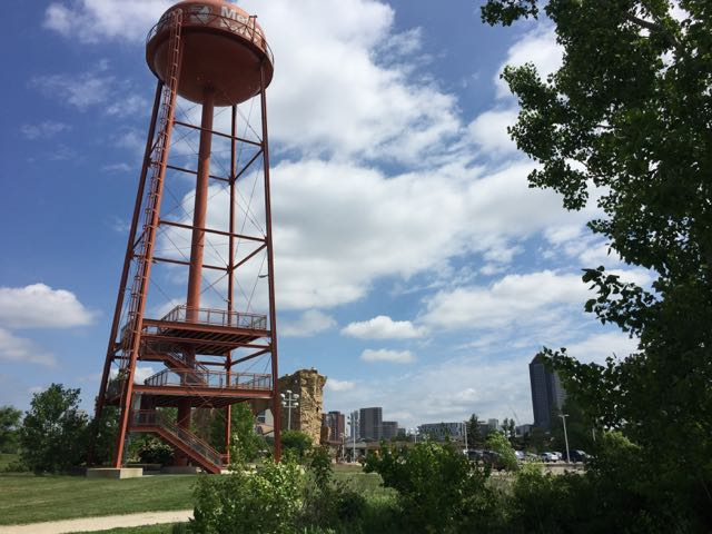 water tower at Scioto Audubon Park