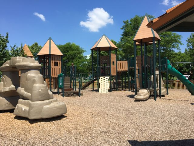 playground area at Planet Westerville Park