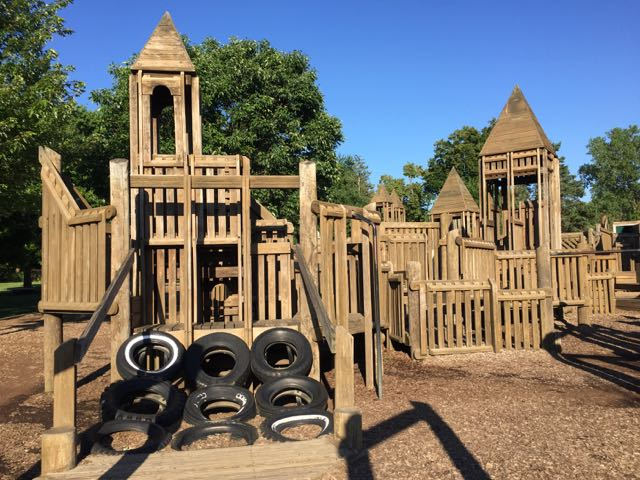 play structure at the Castle Park in Upper Arlington, Ohio