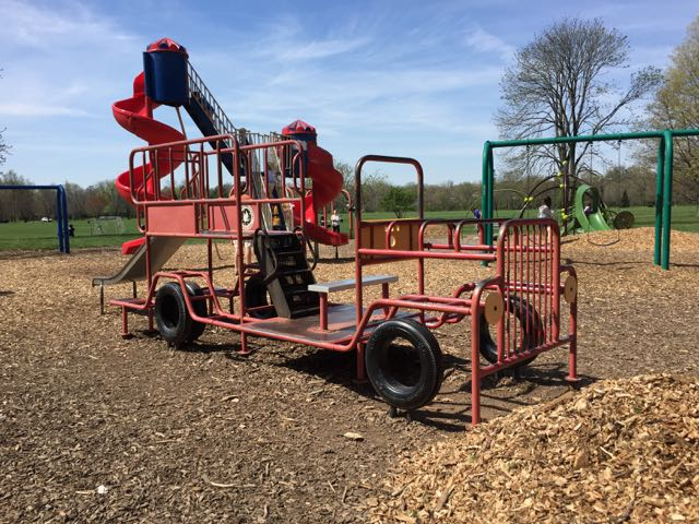 Fire Truck Play Structure at Whetstone Park, Columbus, Ohio