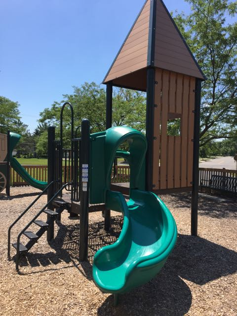 toddler play structure at Planet Westerville Park, columbus Ohio
