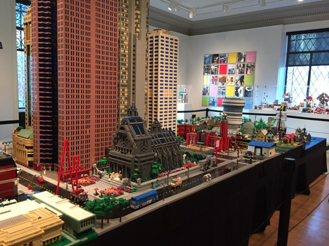 Think Outside the Brick LEGO display at Columbus Museum of Art