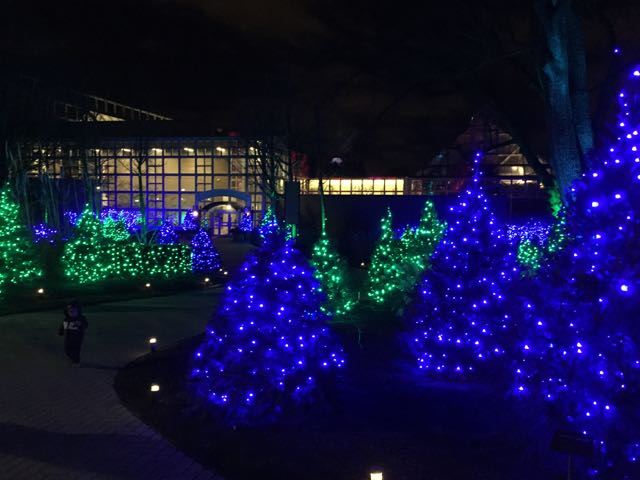 Franklin Park Conservatory holiday decorations and lights