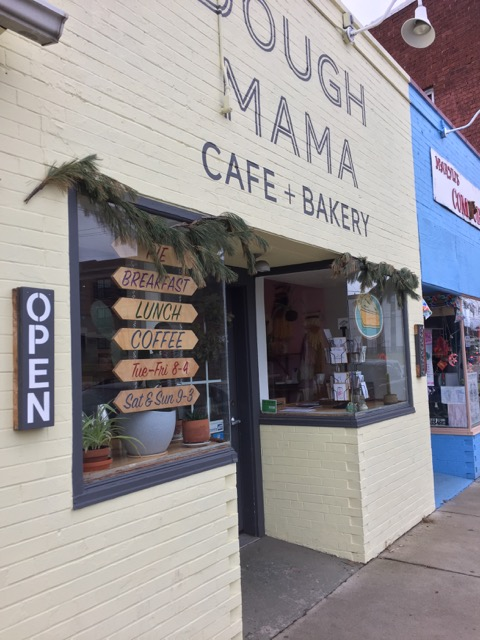 Outside of Dough Mama Cafe + Bakery in Columbus, Ohio