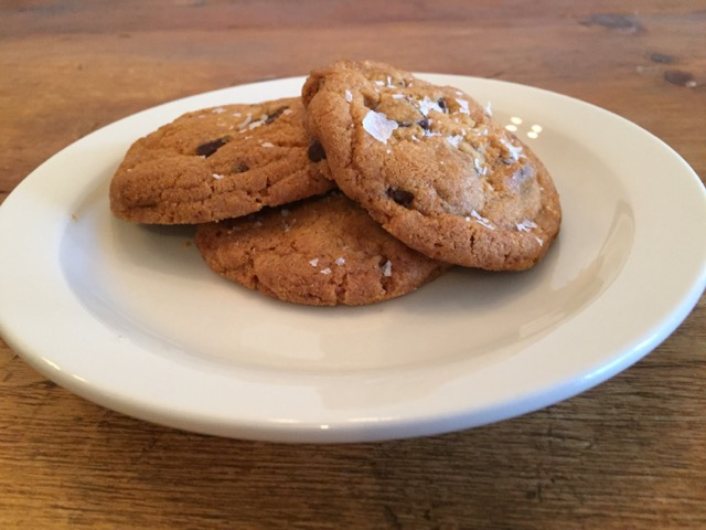 salted chocolate chip cookies from Sassafras Bakery in Columbus, Ohio