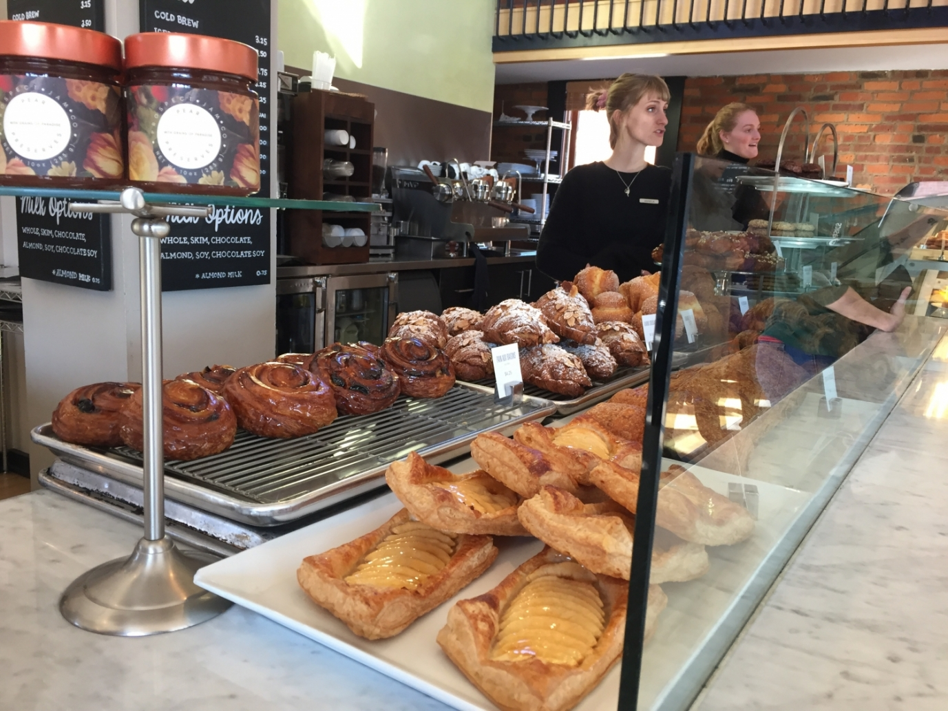 the bakery counter at Pistacia Vera in Columbus, Ohio