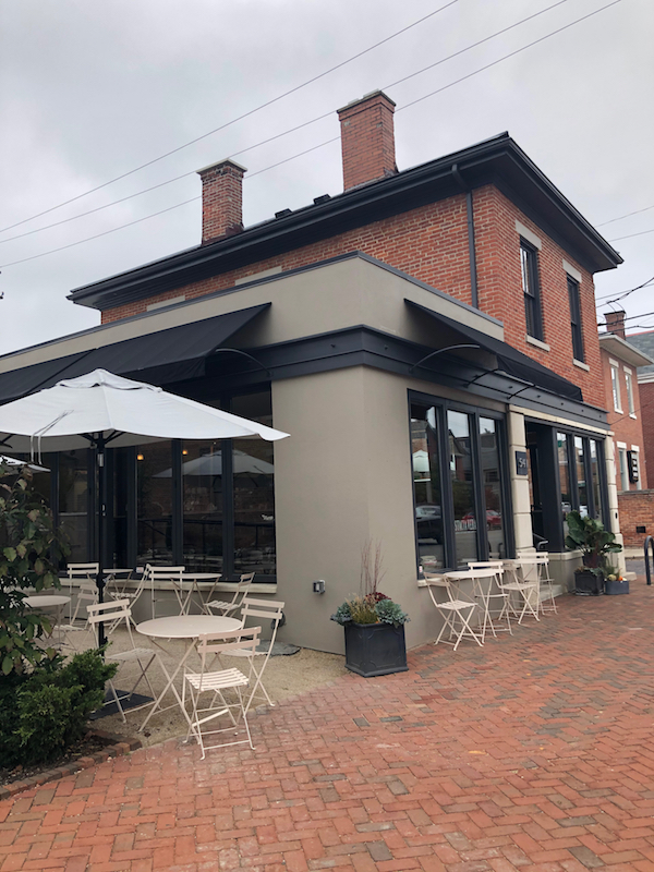 Pistacia Vera from the outside in German Village, Columbus, Ohio