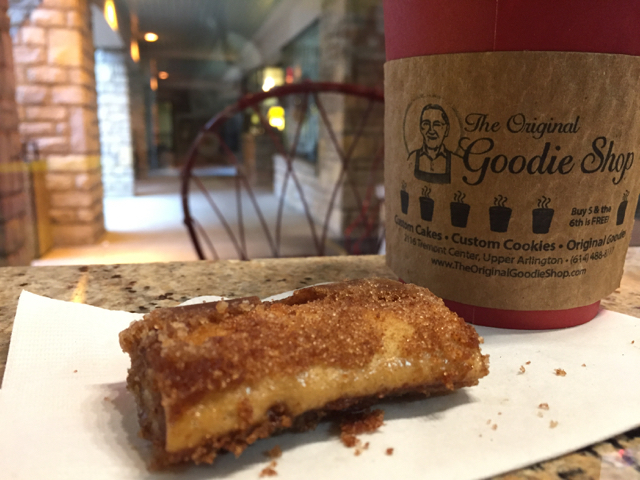 coffee and pastry from The Original Goodie Shop in Upper Arlington, Ohio