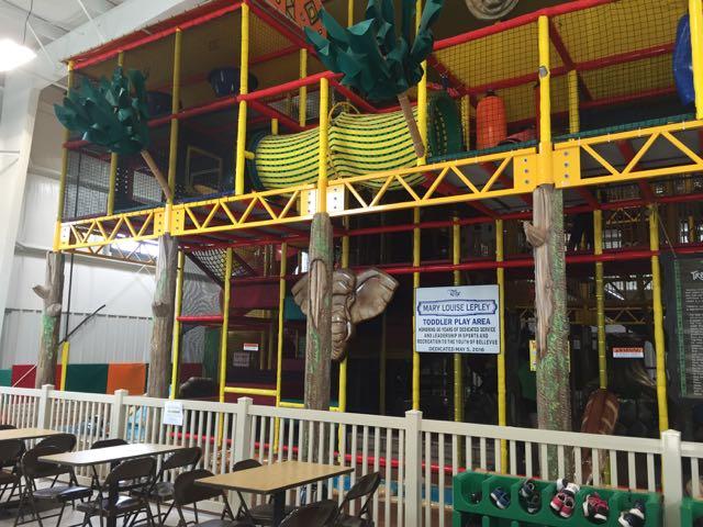 Jungle Junction play area in Bellevue, Ohio