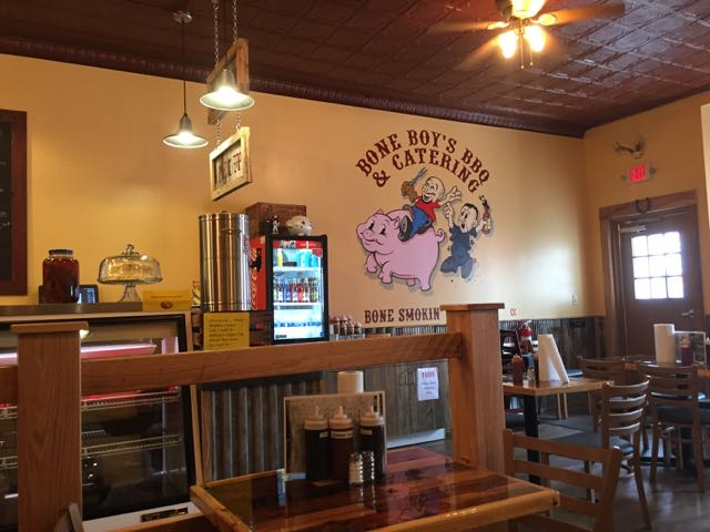 Inside Bone Boy's BBQ and Catering