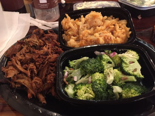 Plate of food at Bone Boy's Barbecue in Bellevue, Ohio
