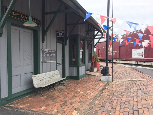 the Mad River & NKP Railroad Museum outdoor area