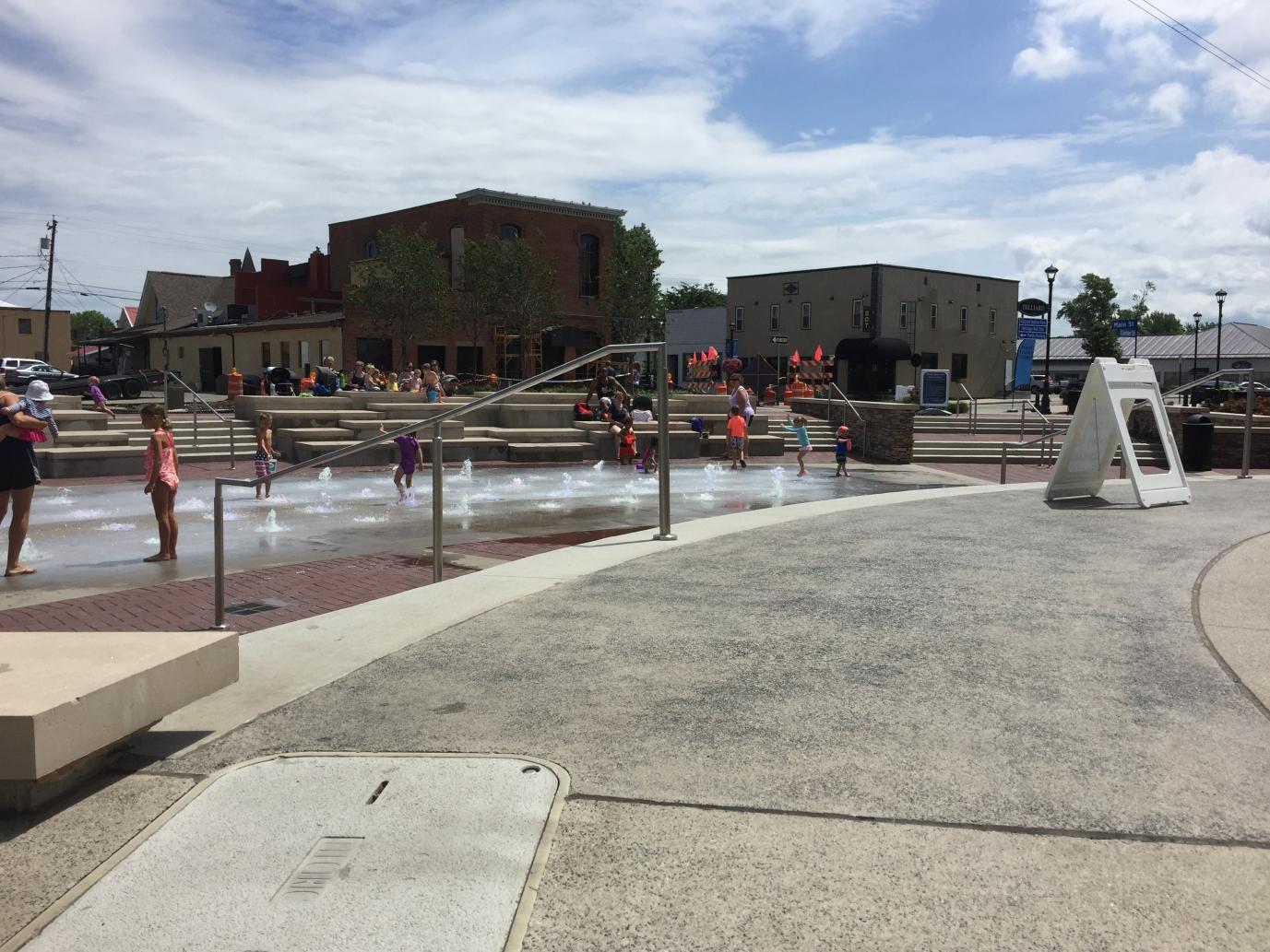 Splash pad at Hilliard's Station Park