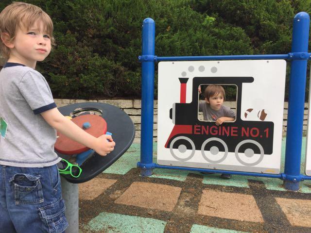 homestead metro park playground train area
