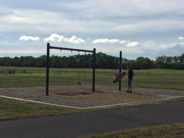 Swingset at Scioto Grove Metro Park Playground