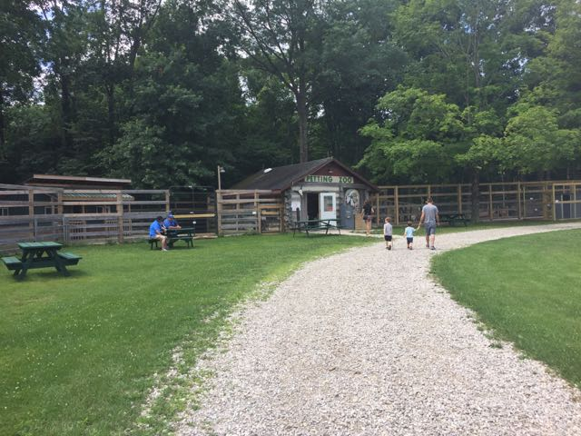 outside the petting zoo at Olentangy Indian Caverns