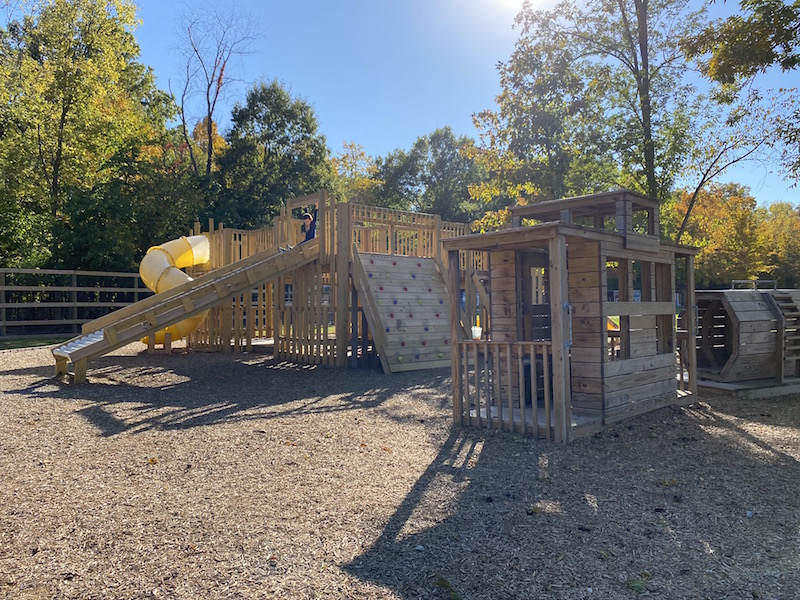 Olentangy Indian Caverns playground with train structure