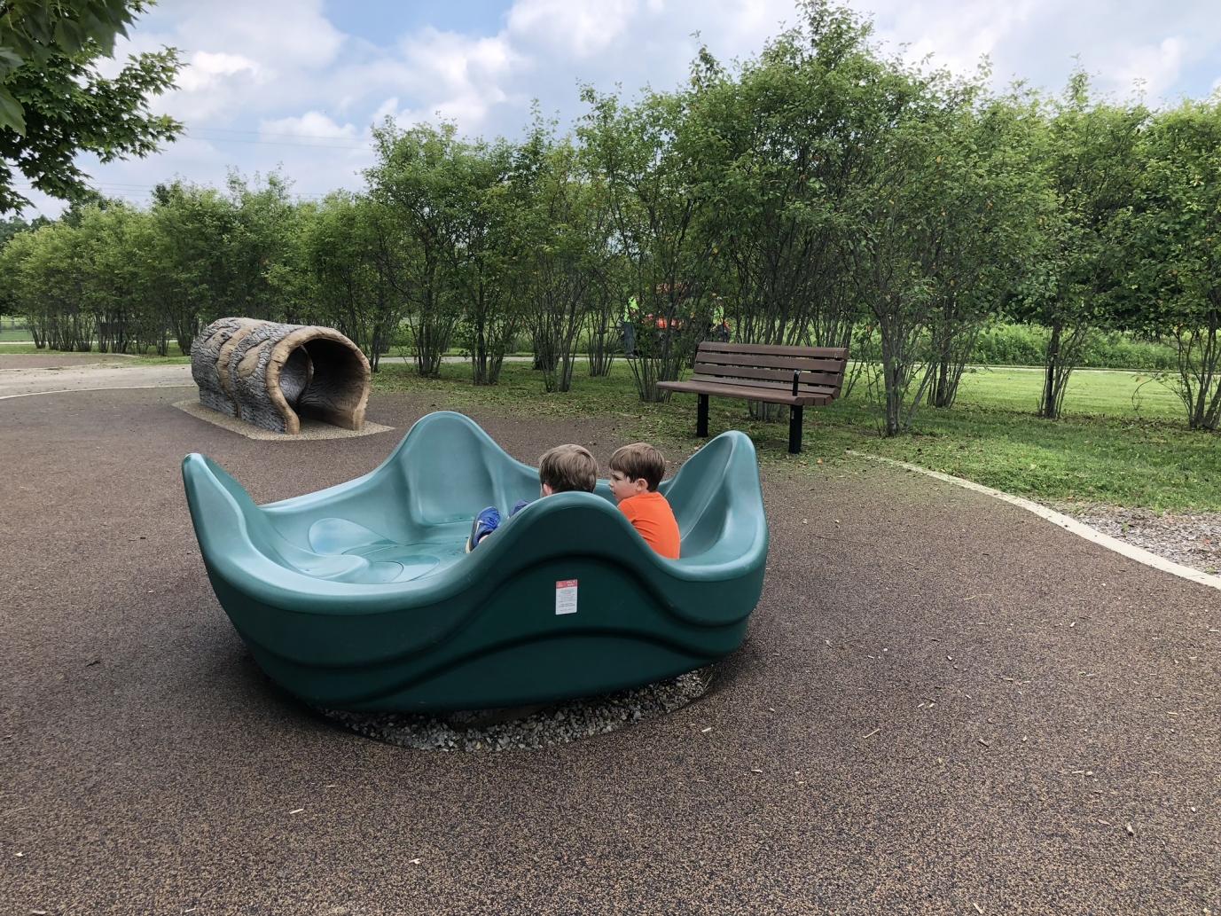 merry go round at walnut woods metro park playground