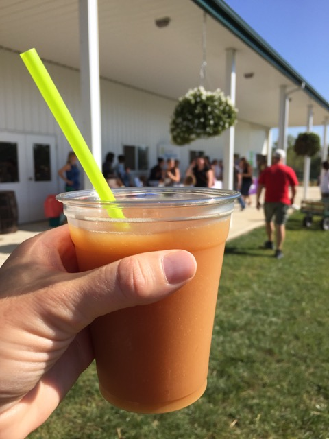 Leeds Farm apple cider slushy