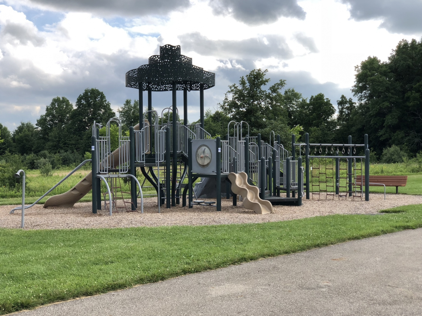 playground at Glacier Ridge Metro Park