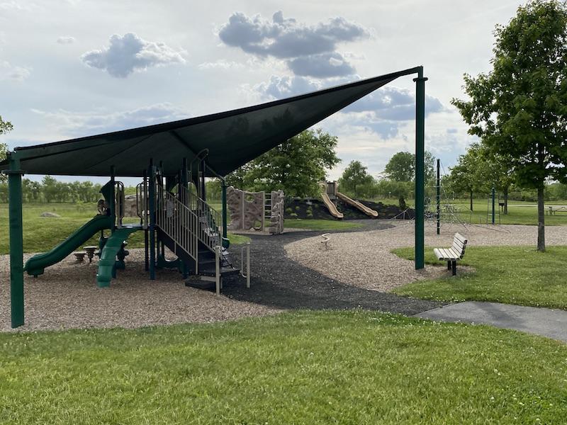 playground area at Prairie Oaks Metro Park.