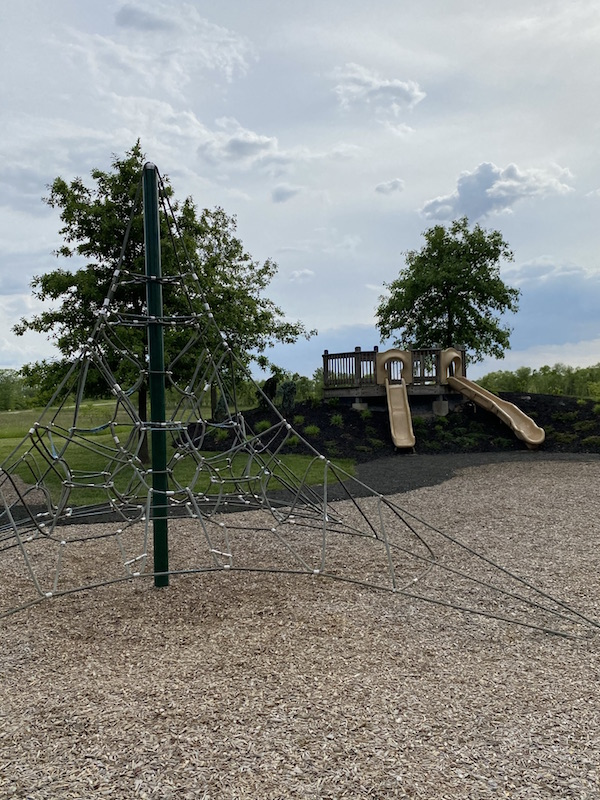 rope climbing structure at Prairie Oaks Metro Park.