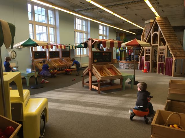 play area at little kidspace at COSI