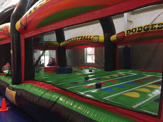 bounce house at Blue Monkey