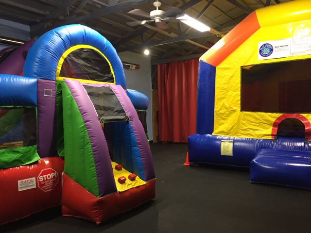 bounce houses at Blue Monkey