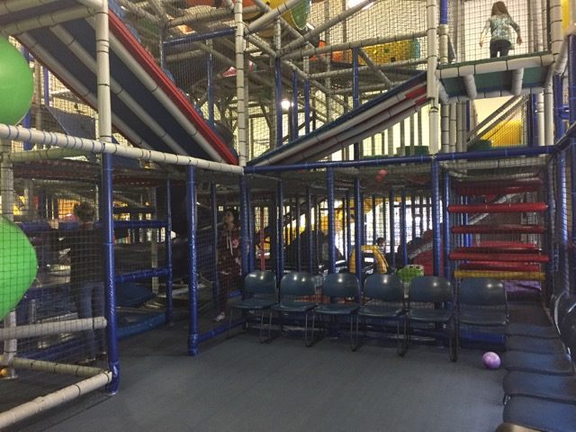 play area at Galaxy Games and Golf in Columbus, Ohio