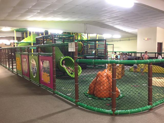 play area at Fun in the Jungle in Sunbury, Ohio
