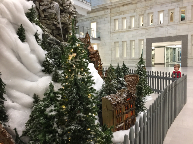 holiday train at Main Library, Columbus, Ohio