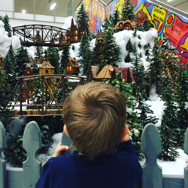 holiday train at main library, columbus