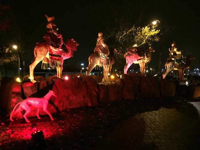 Nativity Scene, 3 wisemen, State Auto, Columbus, Ohio