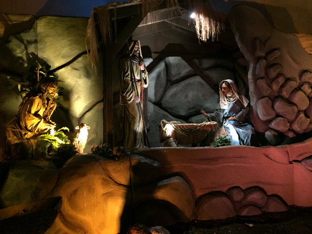 Nativity Scene, Mary and Joseph, at State Auto, Columbus, Ohio