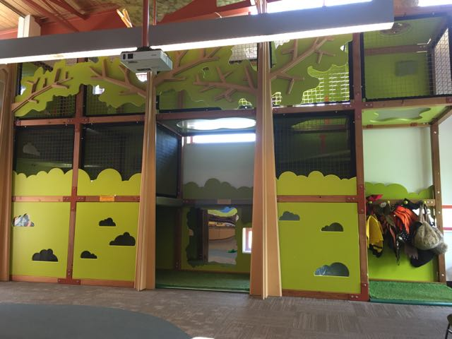 Indoor play area at the Audubon Center