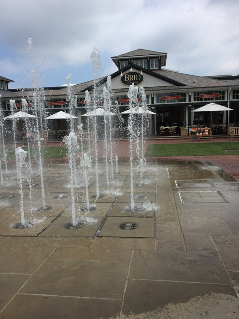 splash pad at Easton Town Center, Columbus, ohio