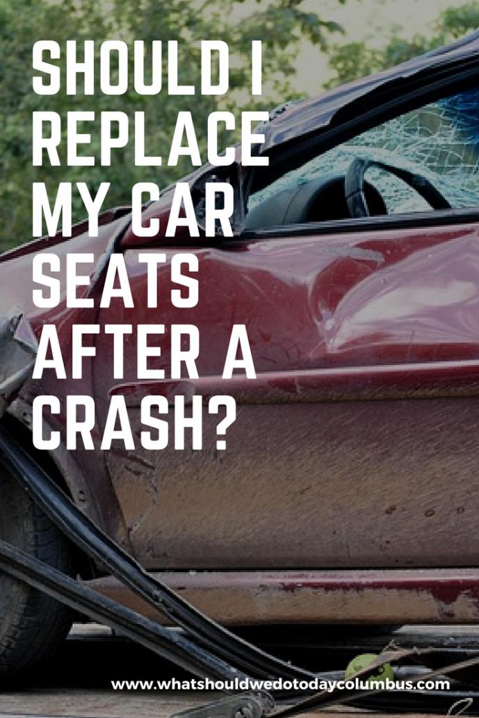 Should I replace my car seats after a crash?