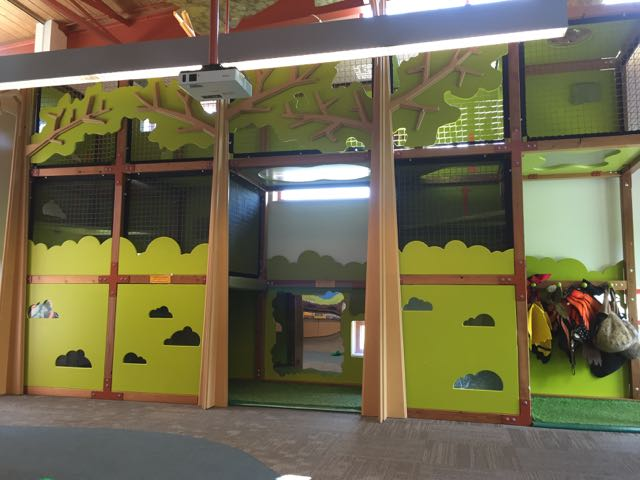Indoor play area at scioto audubon metro park nature center in columbus ohio