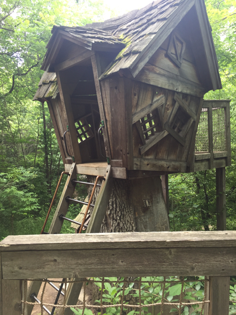 treehouse for kids in Inniswood Metro Park in Columbus, Ohio