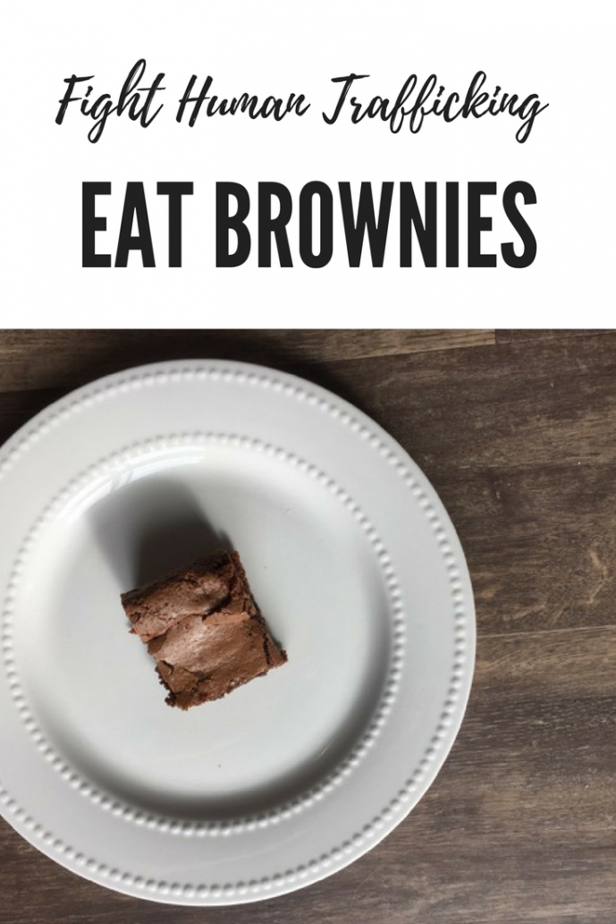 Brownie on a plate