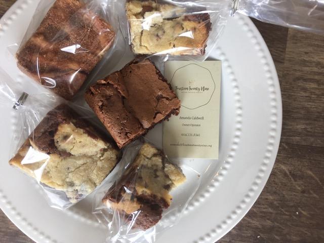 Plate of brownies from Fourteen Twenty Nine